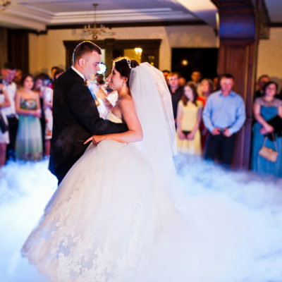 Amazing First Wedding Dance Of Wedding Couple With Heavy Smoke A
